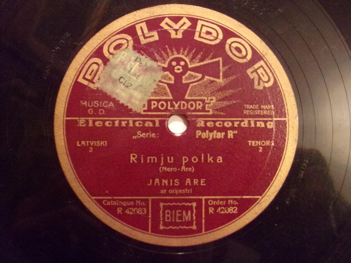 №26. Полидор. На латышском языке. Латвия. 1930-тые года.