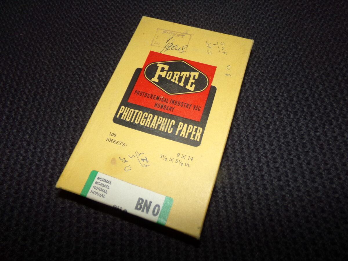 """Коробка от фотобумаги """"Форте"""". Венгрия. Поставлялась в СССР в 1970-тых годах."""