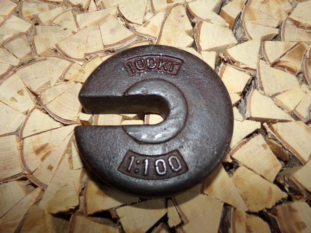 Гиря-противовес на 100 кг. СССР.