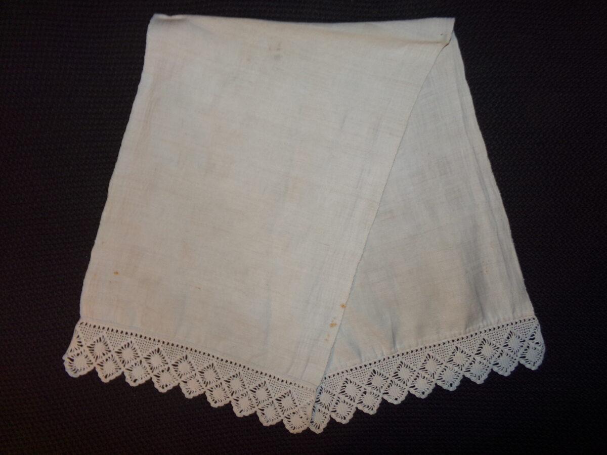 Льняное полотенце с кружевом. Восточная Латвия. Начало 20 века.