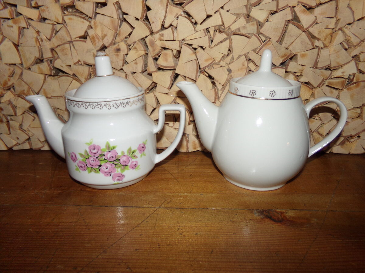 Два чайника. Рижский фарфор. СССР.