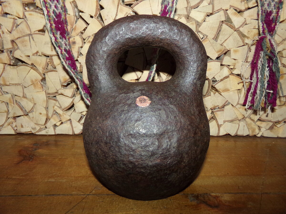 Senlaicīga svaru bumba. 20 funti. latvijas zīmogs.