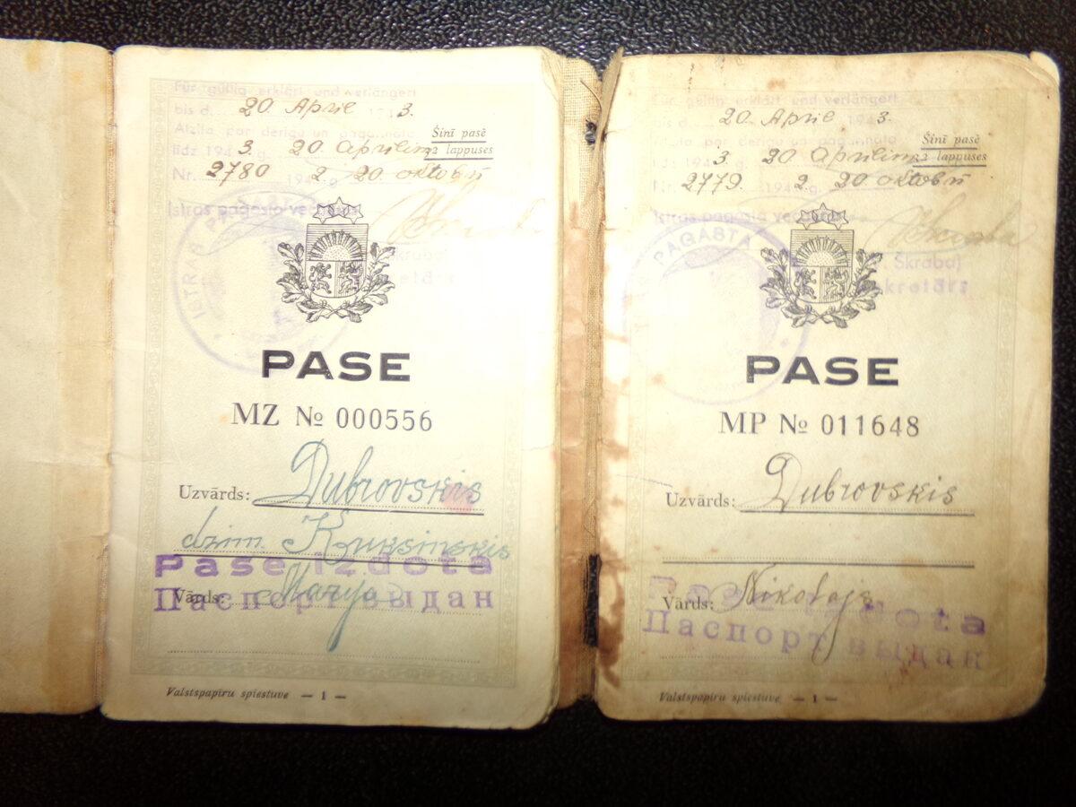 Паспорта первой Латвийской Республики. 1920-30 года.