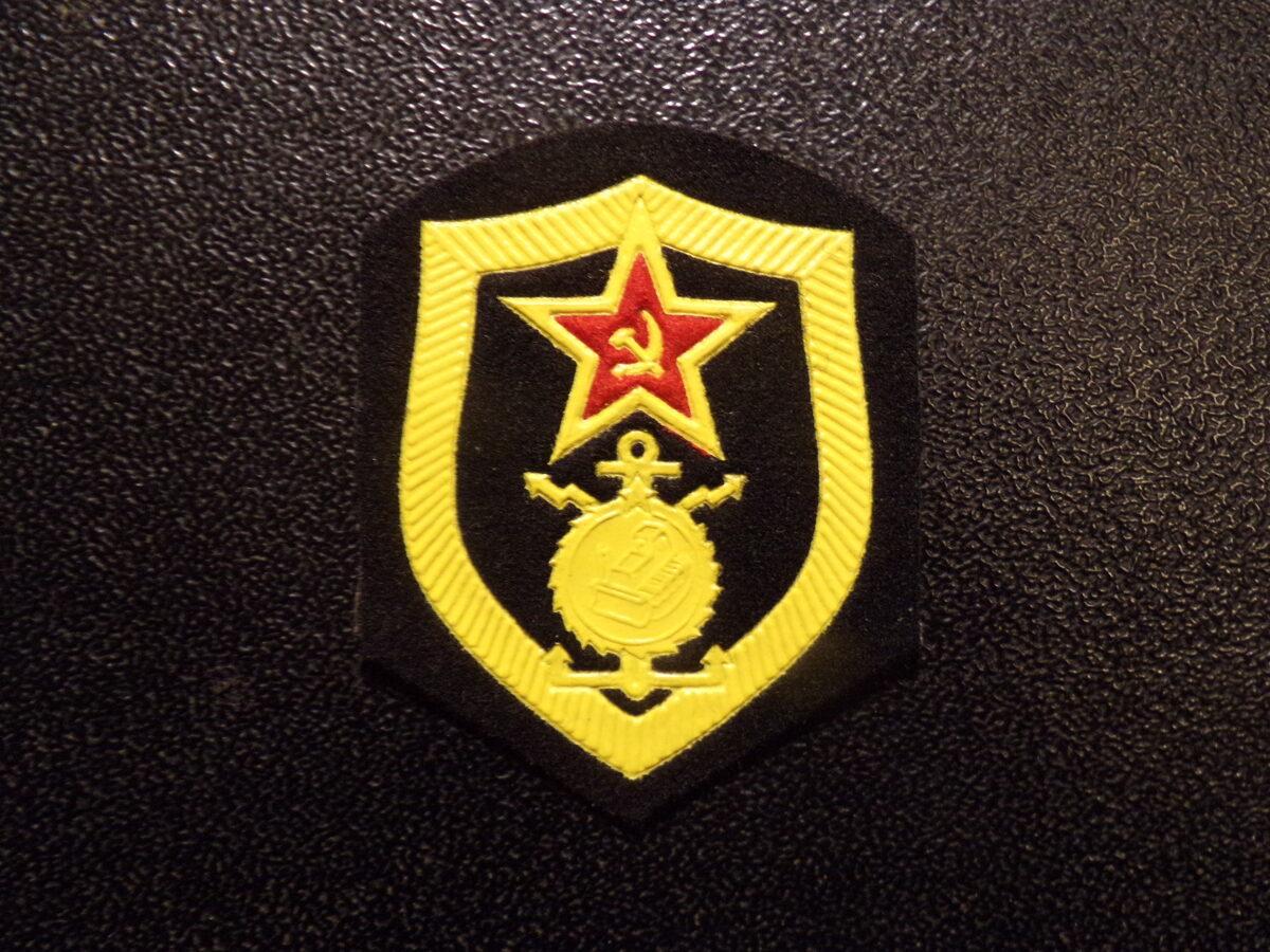 Шеврон строительных войск. СССР. 1980-тые года.