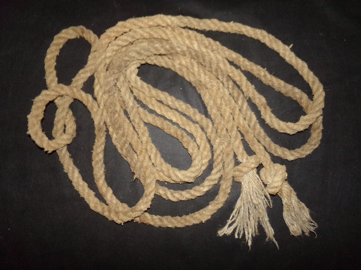 Пеньковая веревка.