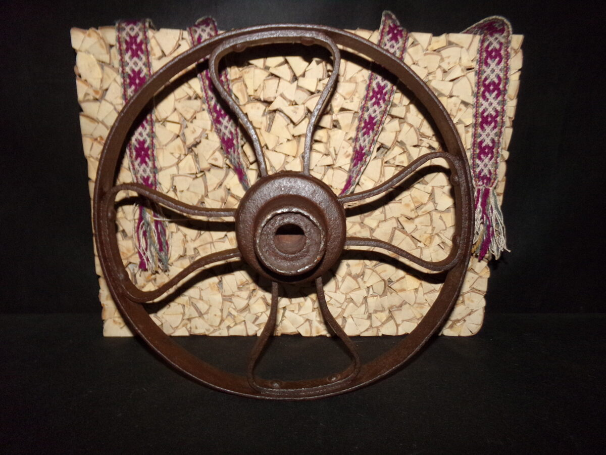 Железное колесо. Диаметр 42 см. Начало 20 века.