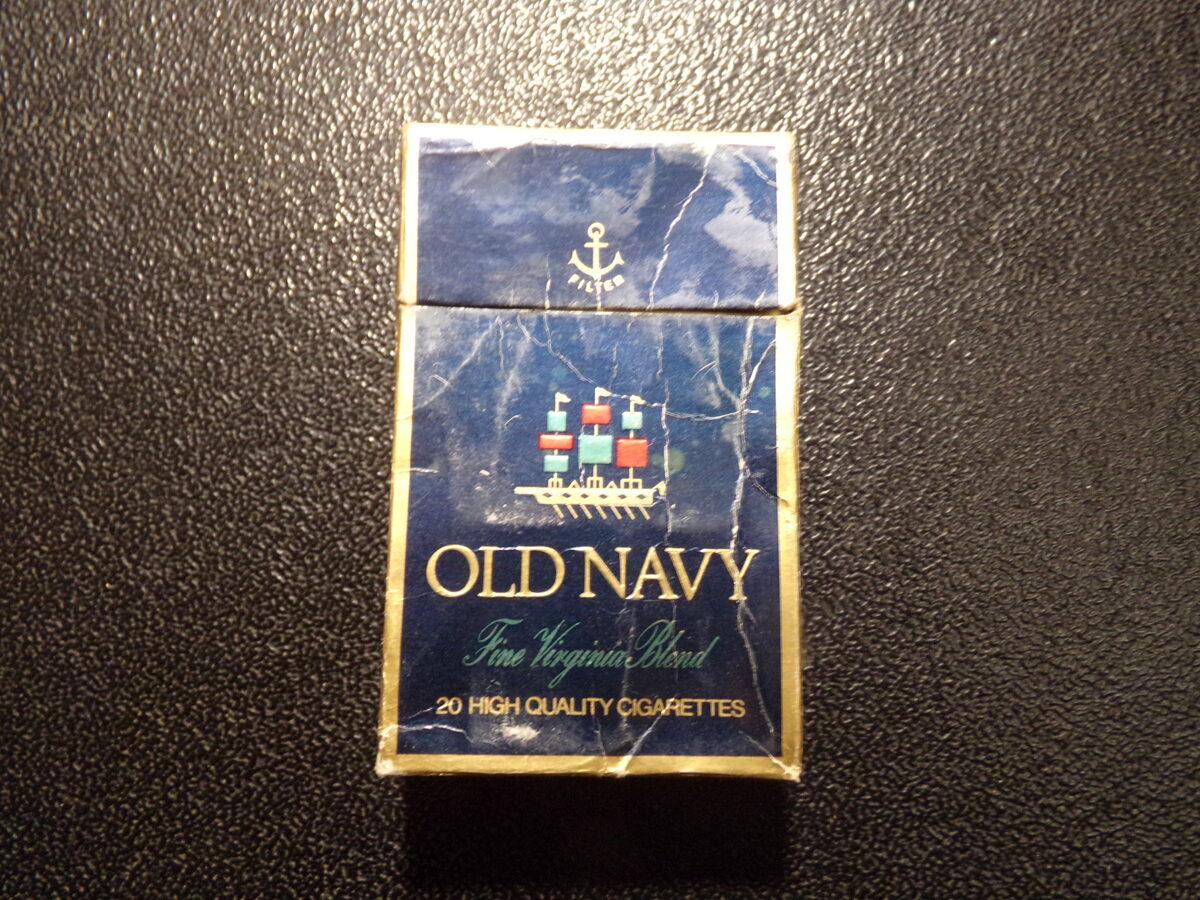 Пачка из под сигарет  OLD NAVY.  Начало 1990-тых годов.