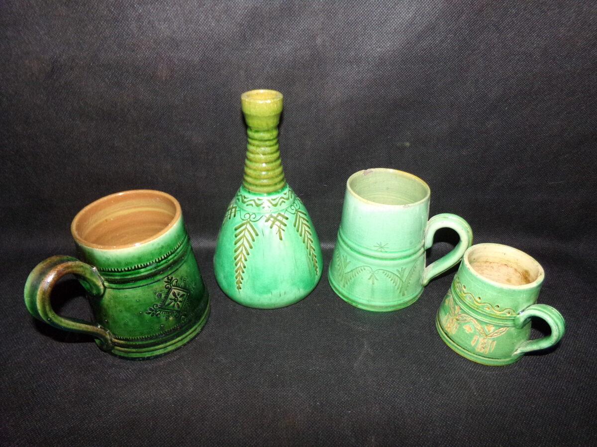 №33. Латвийская зеленая керамика.