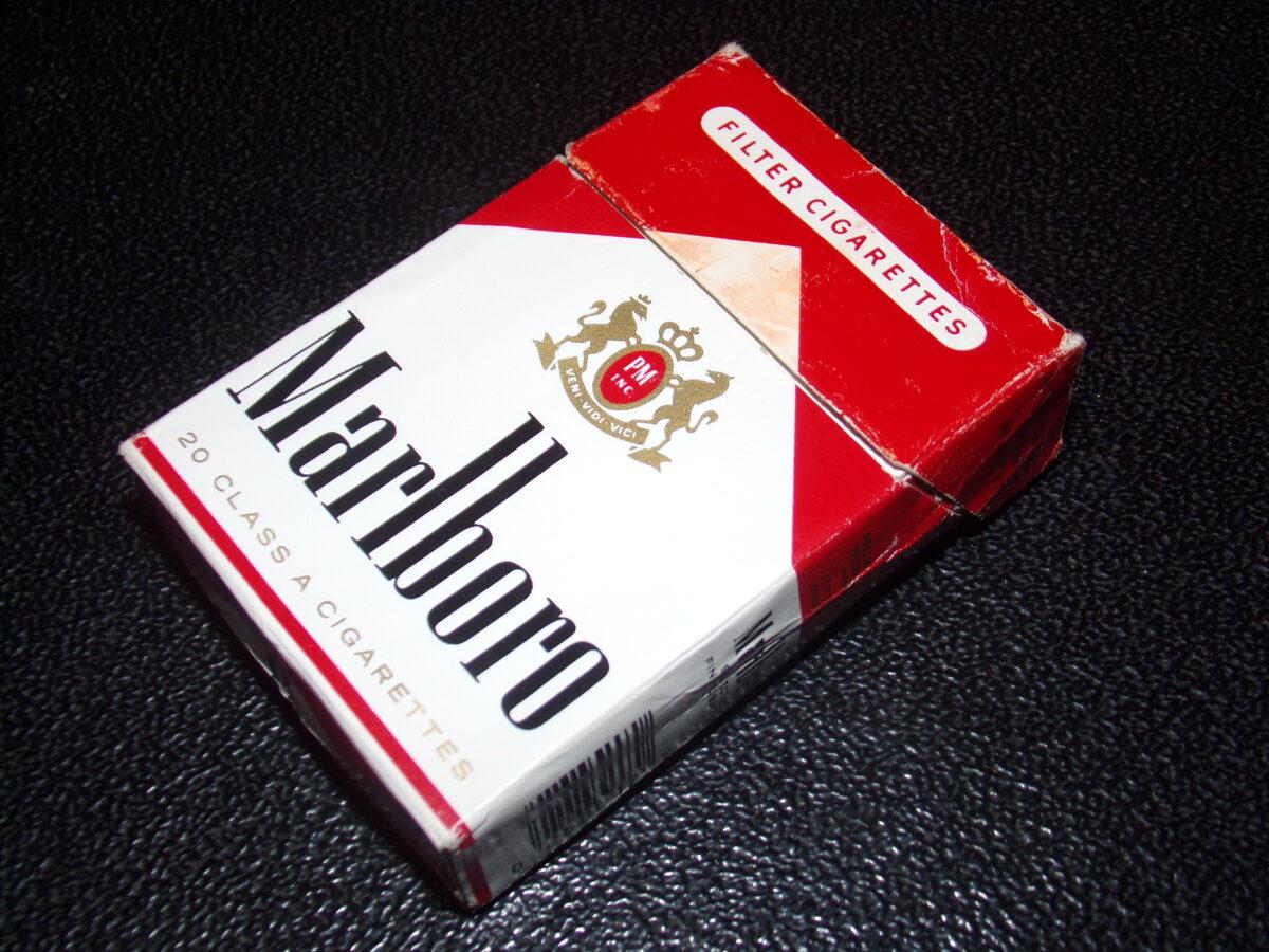 Оригинальная пачка из под сигарет Мальборо. Конец 1980-тых годов.