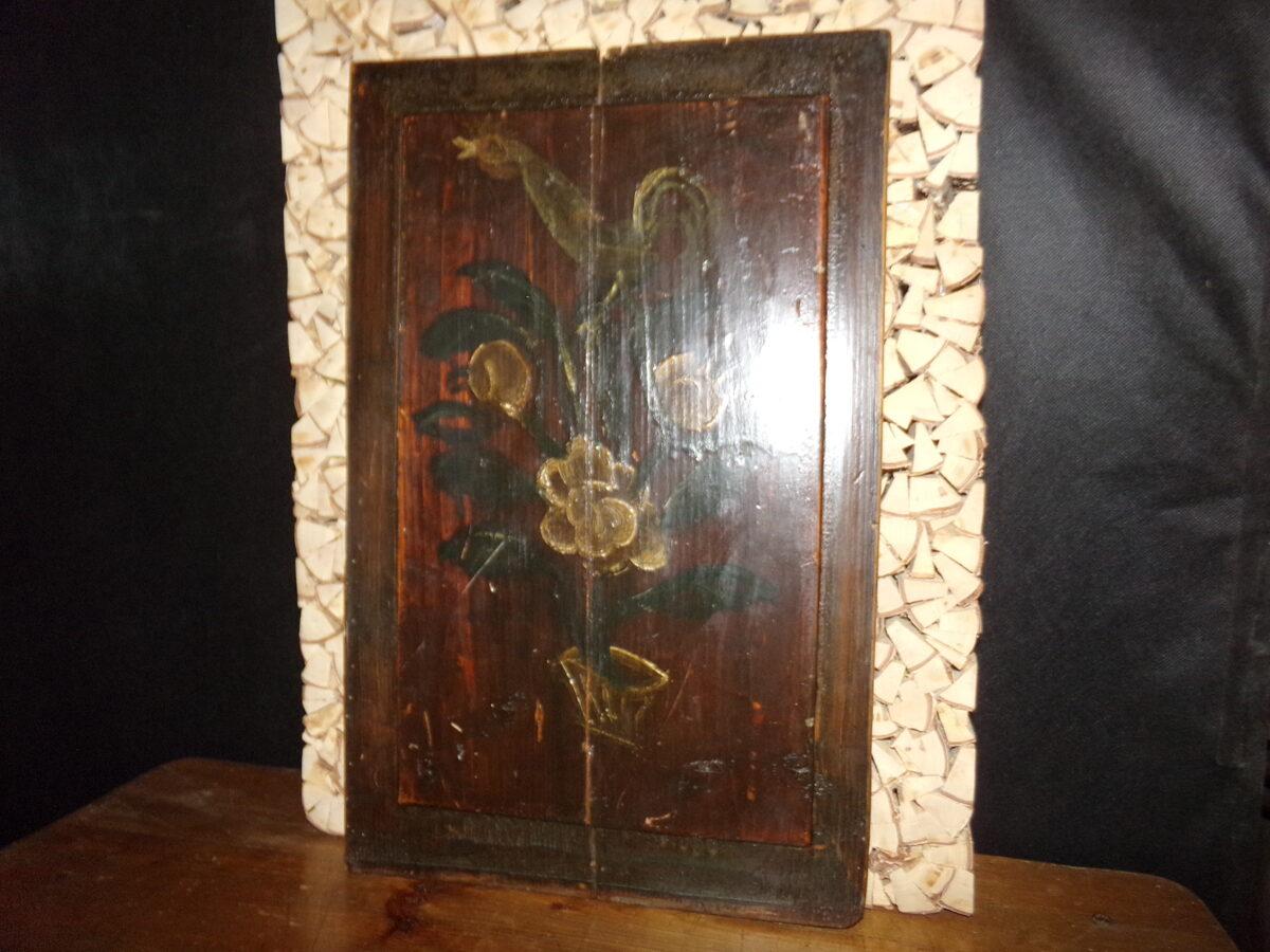 Филенка от шкафа. Роспись. 19 век.