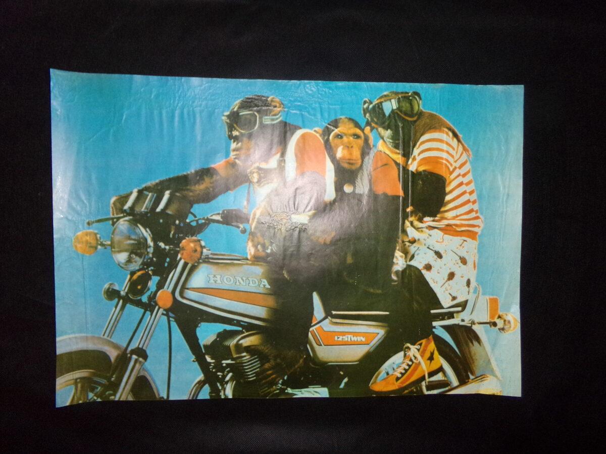 Плакаты с изображением обезьяны. СССР. Конец 1980-тых годов.