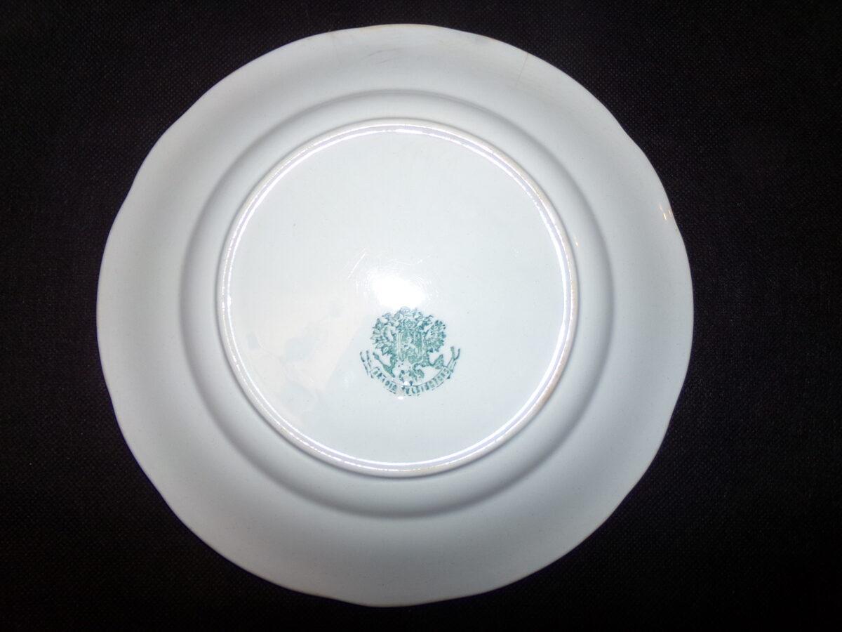 Тарелка с гербом Российской Империи изготовлена для Польши.