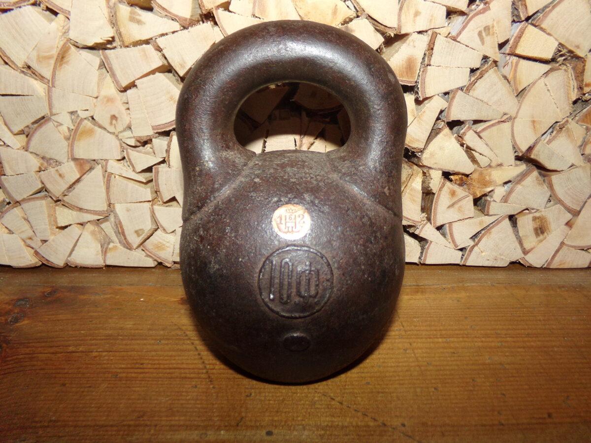 10 funtu svaru bumba. 19. gs. Krievija. Ir zīmogs ar ģerboni.