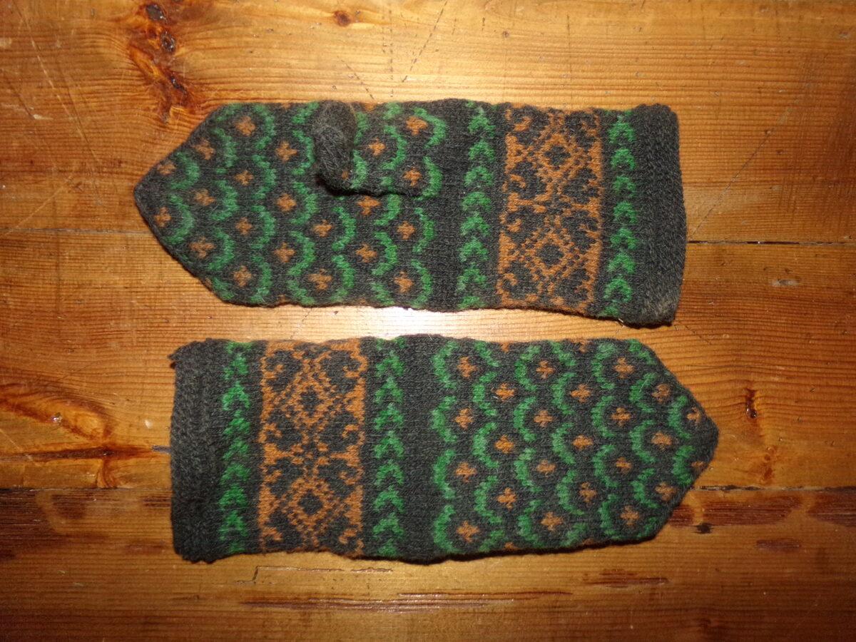 Вязанные рукавички с орнаментом. Восточная Латвия. Начало 20 века.
