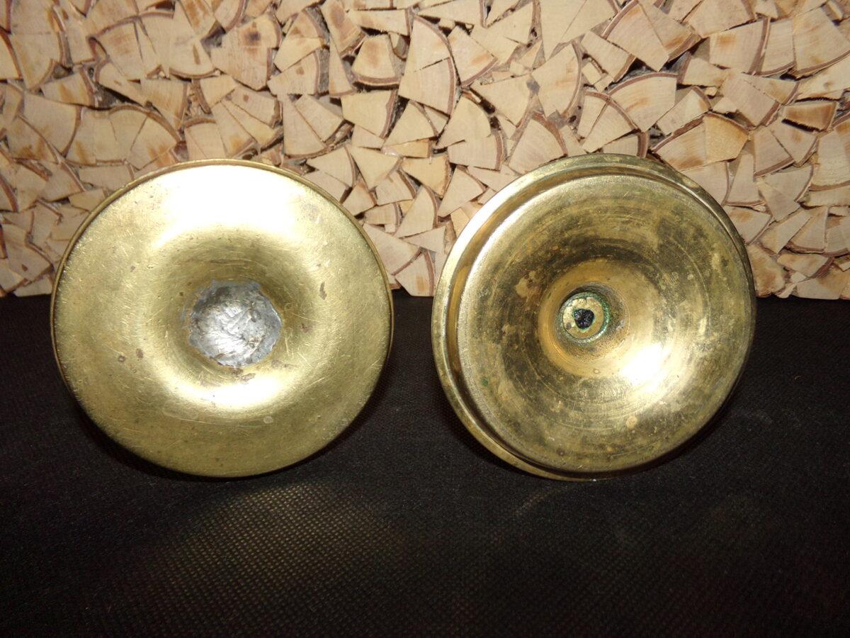 Два подсвечника с рычагами для удаления свечного огарка. Бронза. 19 век.