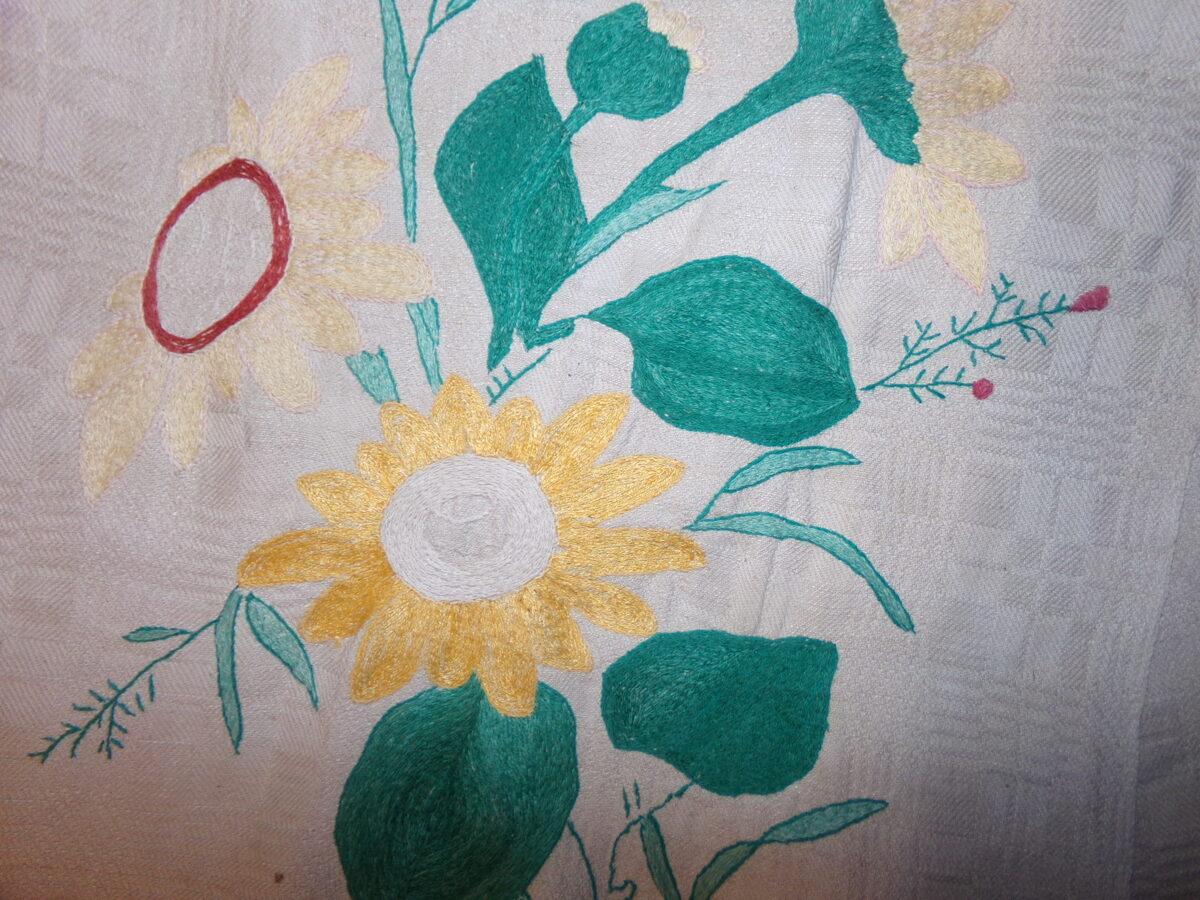 Льняное полотенце-ручник с вышитым узором. Восточная Латвия. Начало 20 века.