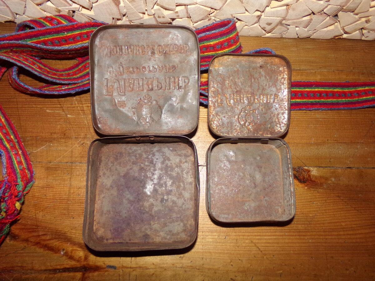 Две жестяные коробки из под леденцов Ландрин. Россия. Начало 20 века.