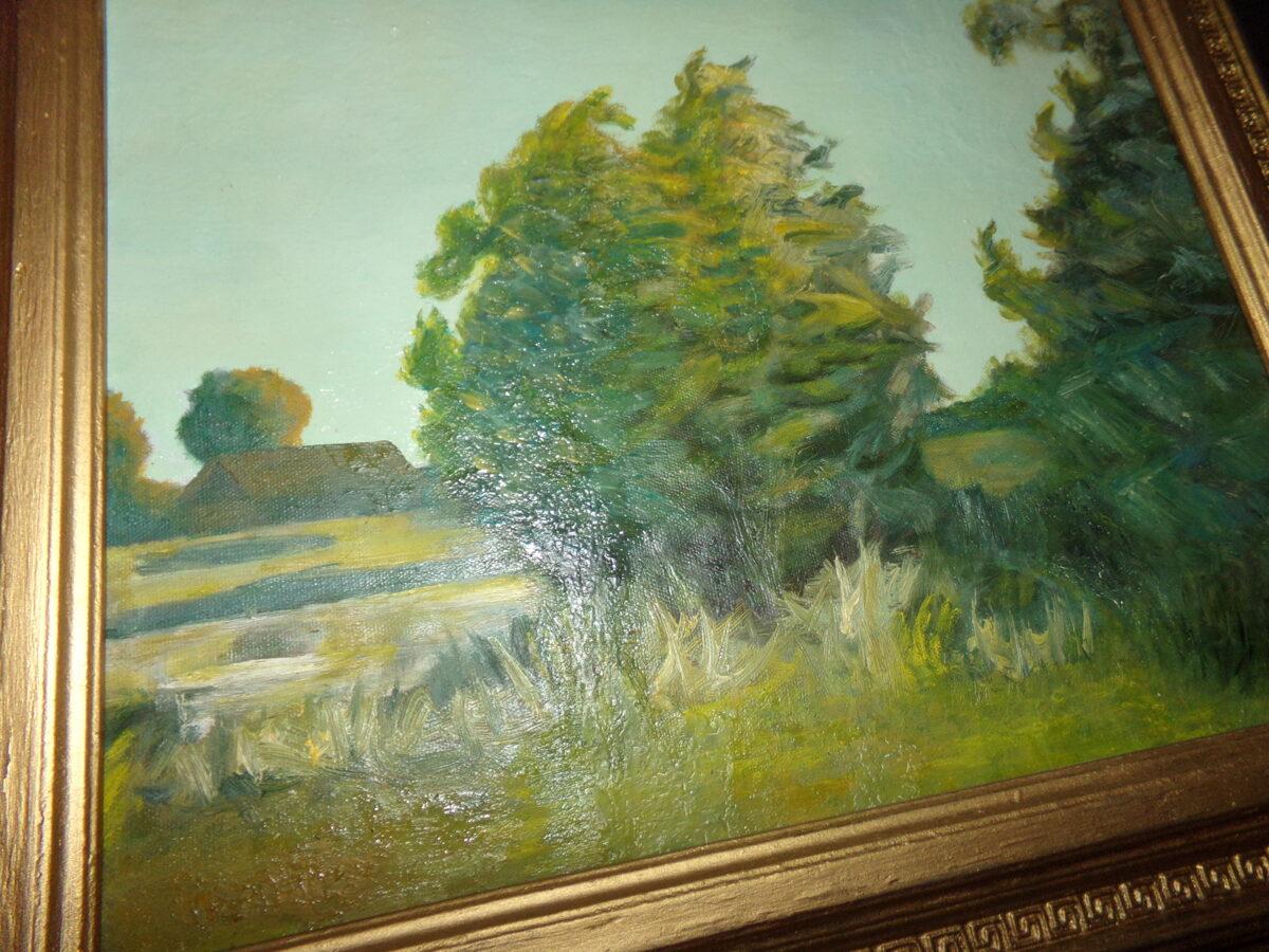 Латгальский пейзаж. Не известный автор. Начало 20 века.