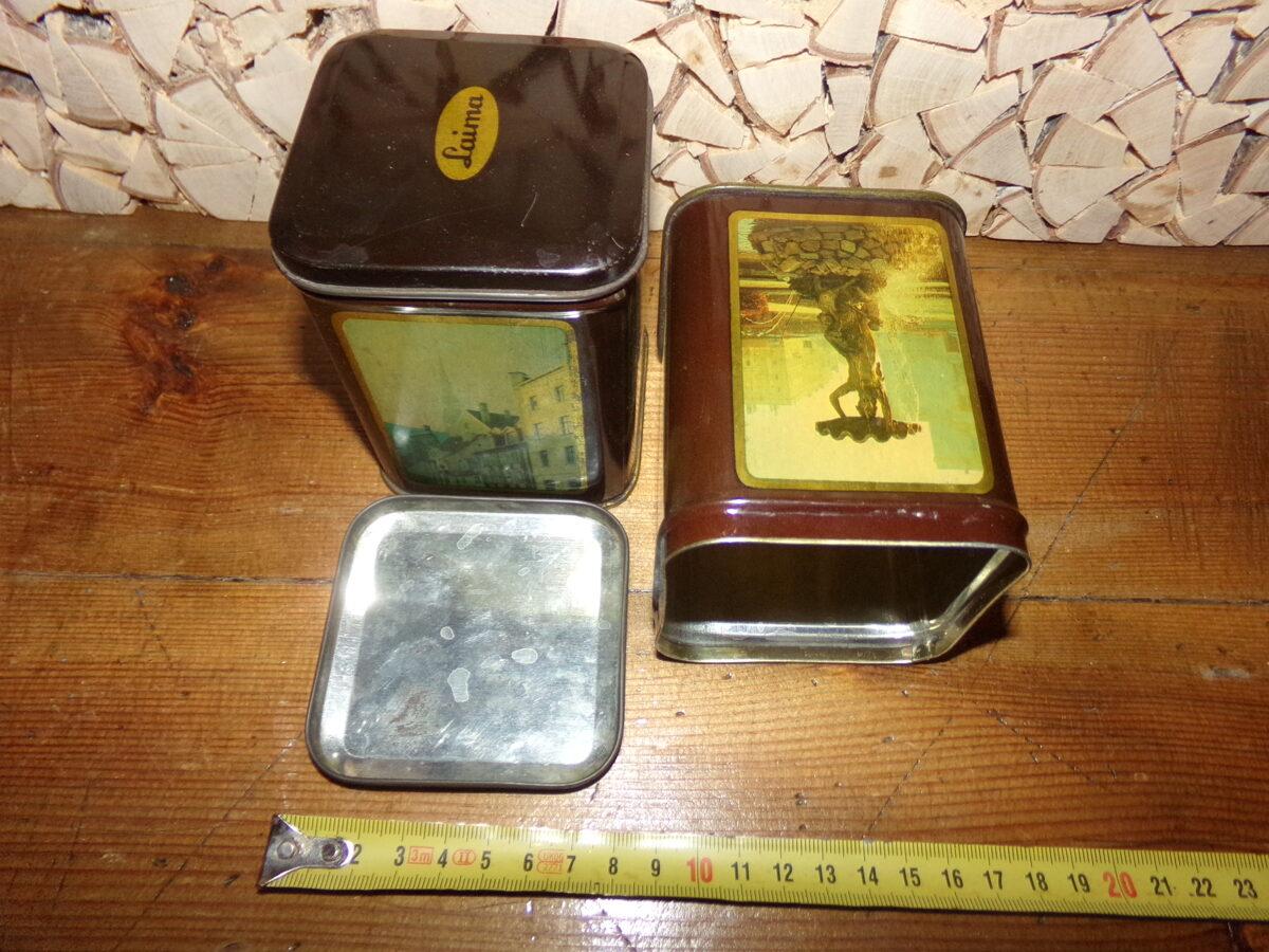 Две жестяные коробки Лайма. Советская Латвия. 1980-тые года.