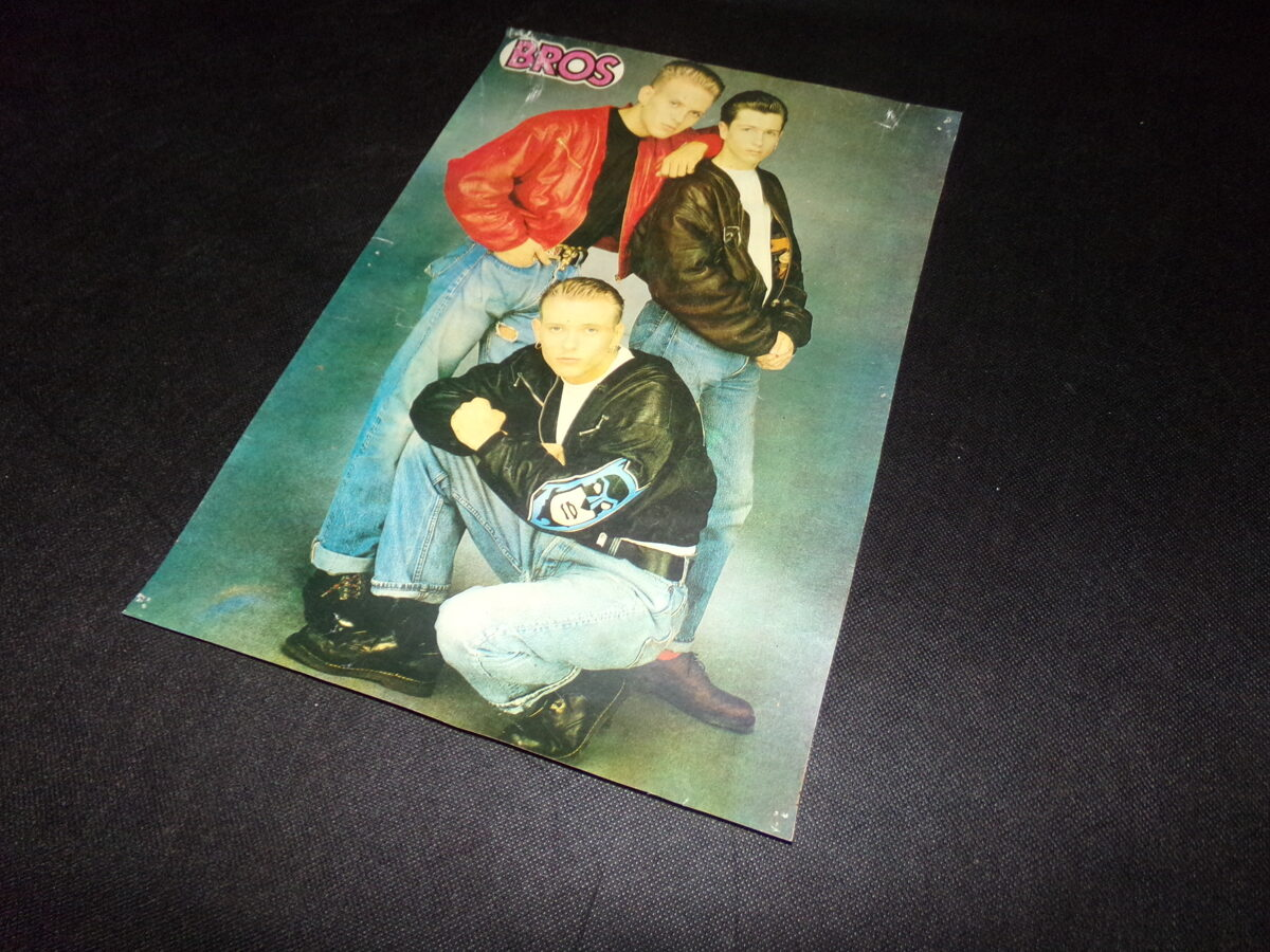 Плакат группы BROS. СССР. Конец 1980-тых годов.