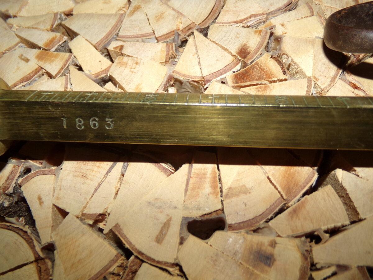 Безмен Рейсс. Рига. 1863 год. 110 фунтов.
