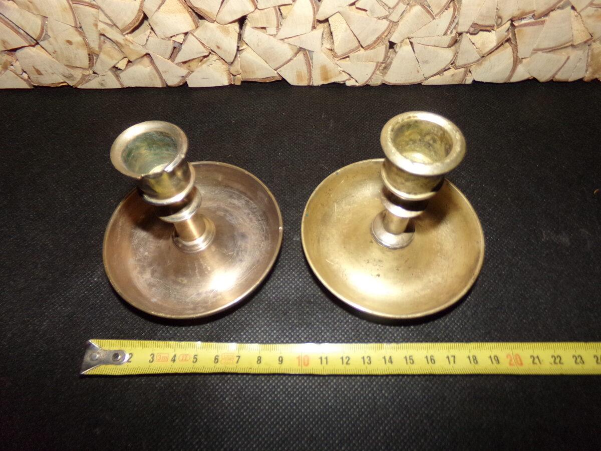 Два бронзовых подсвечника на чашах. Начало 20 века.