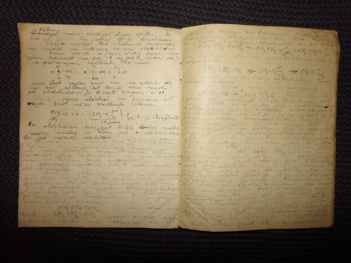 Школьная тетрадь по химии. Латвия. 1930-тые года.