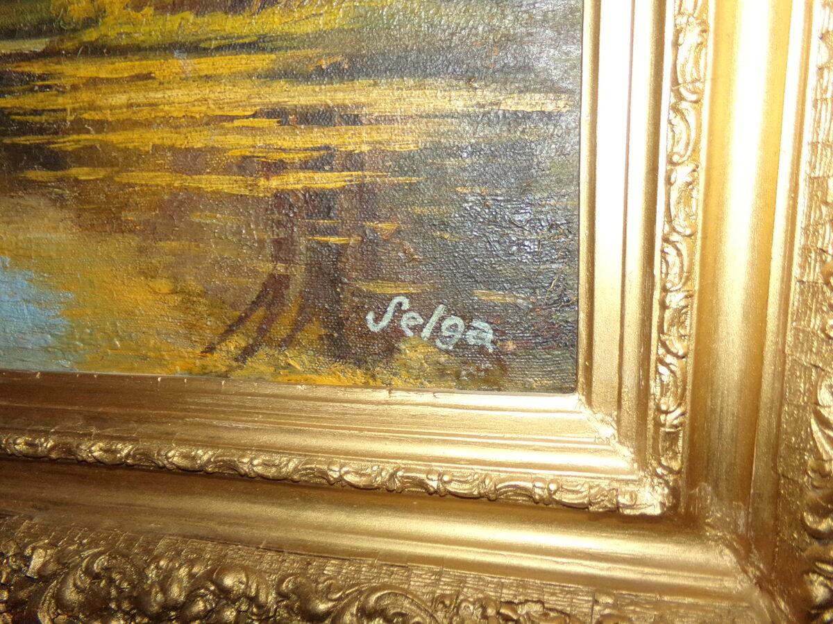 Картина в раме Селга
