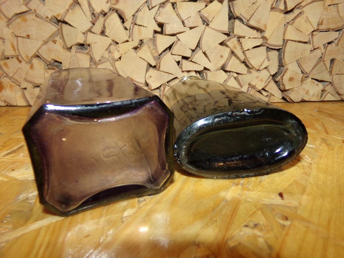 Две стеклянные бутылки из под чернил. Латвия. Начало 20 века.