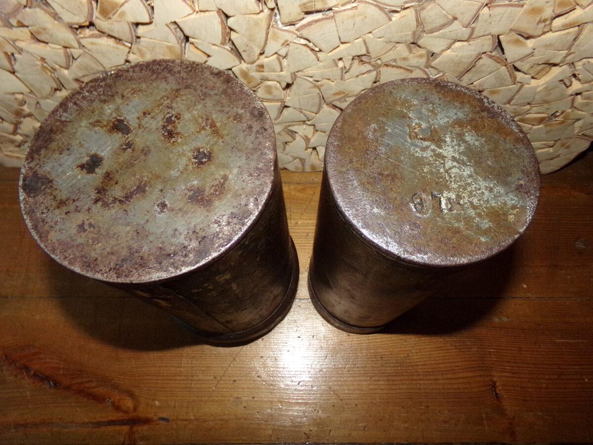 WW1 Две жестяные банки для снаряжения.