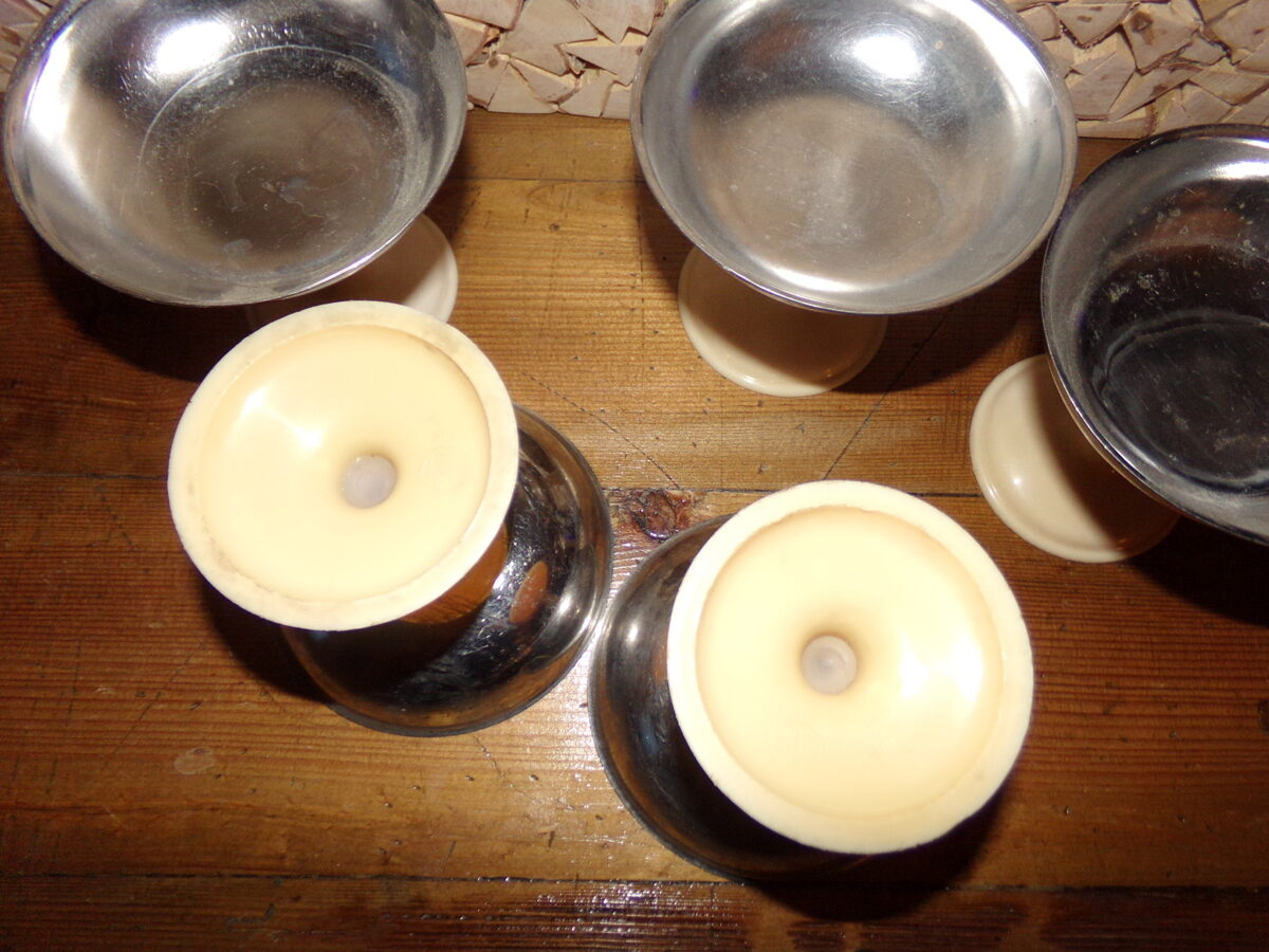 Пять вазочек для мороженого. СССР.