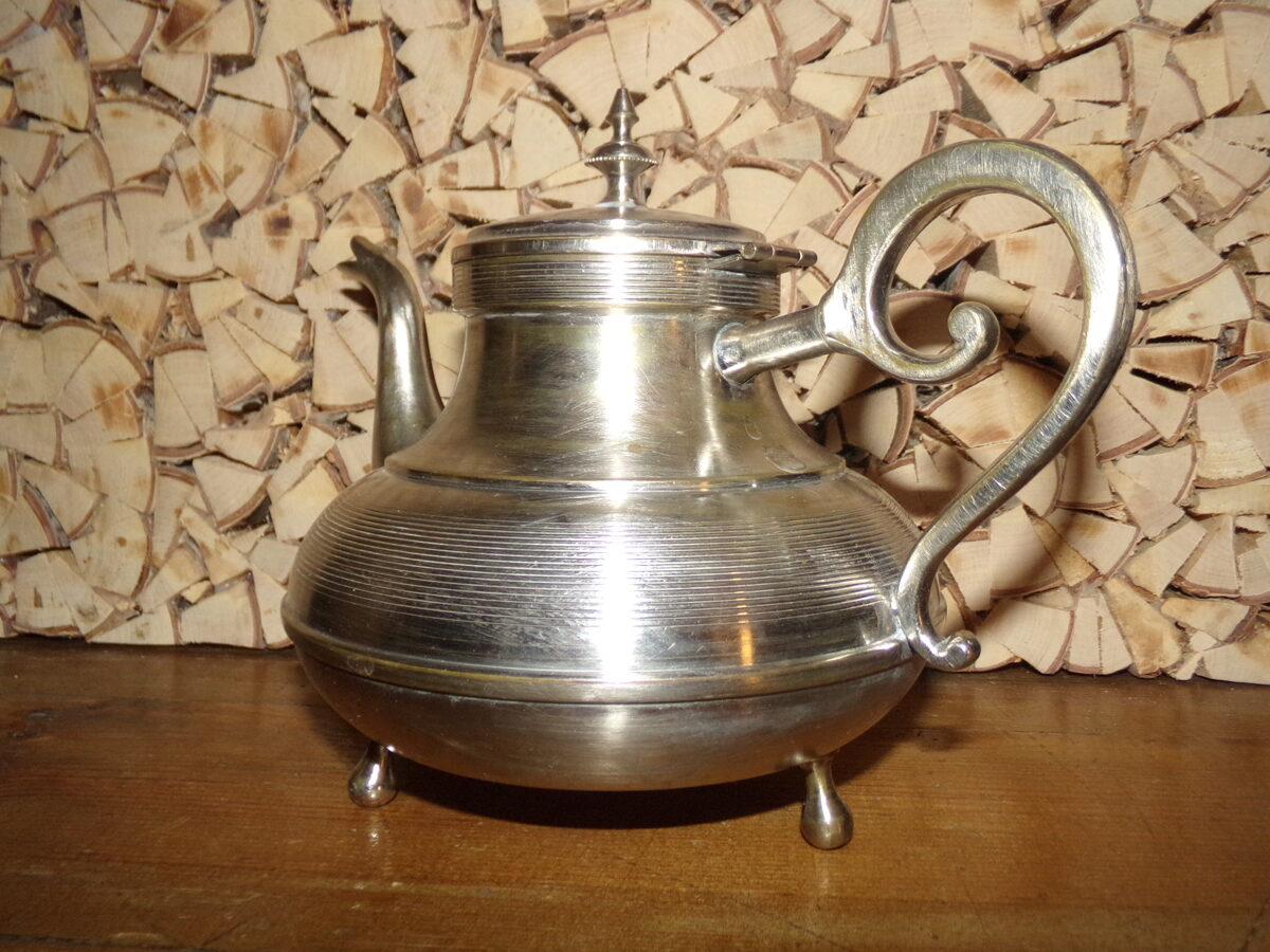 Чайник. Латунь покрытая хромом. Начало 20 века.