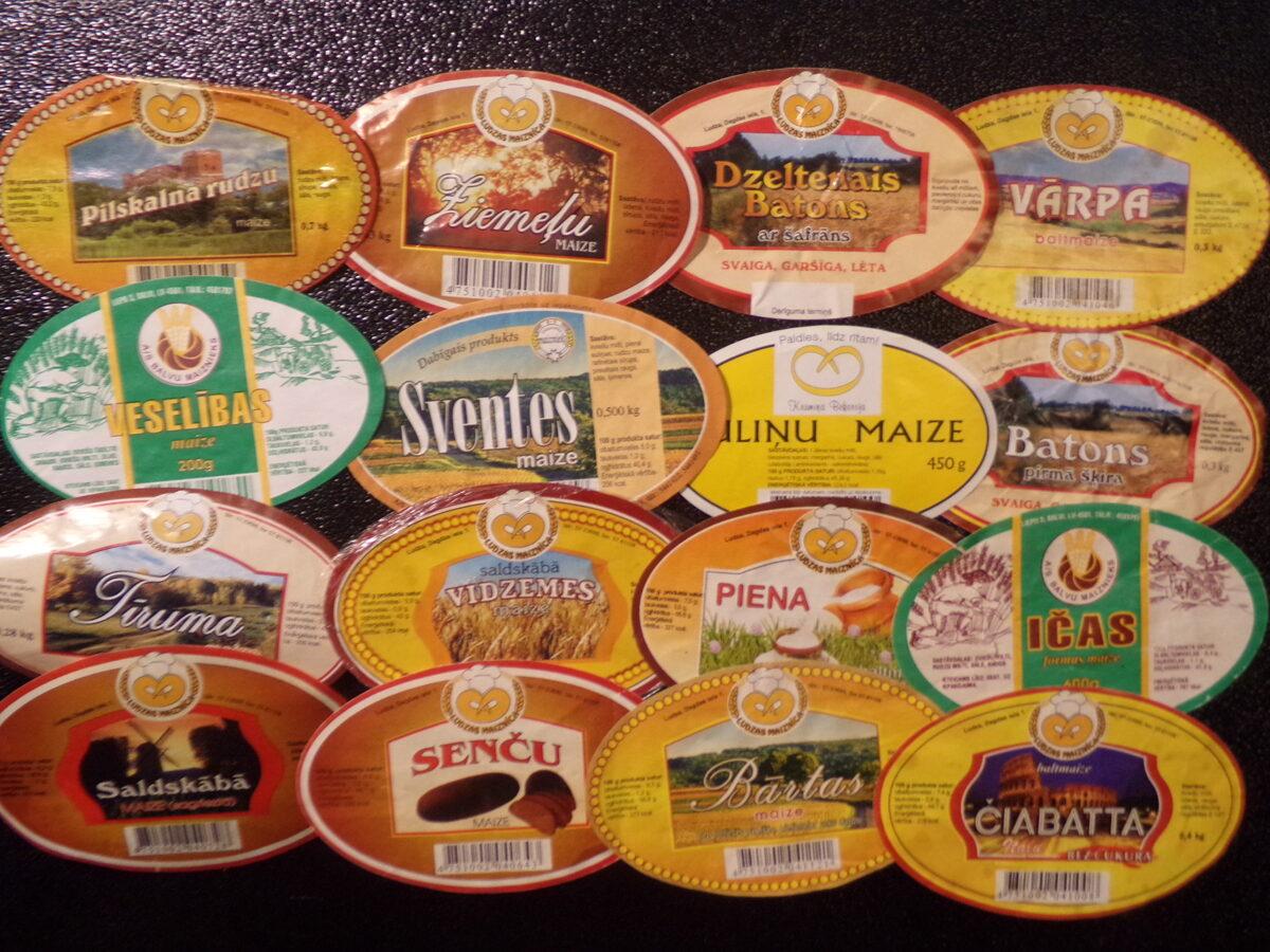 Хлебные этикетки. Латвия. Начало 2000-ных годов.