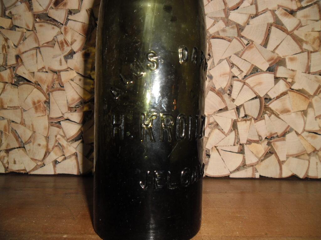Пивная бутылка. Латвия. Елгава. 1920-30 года.
