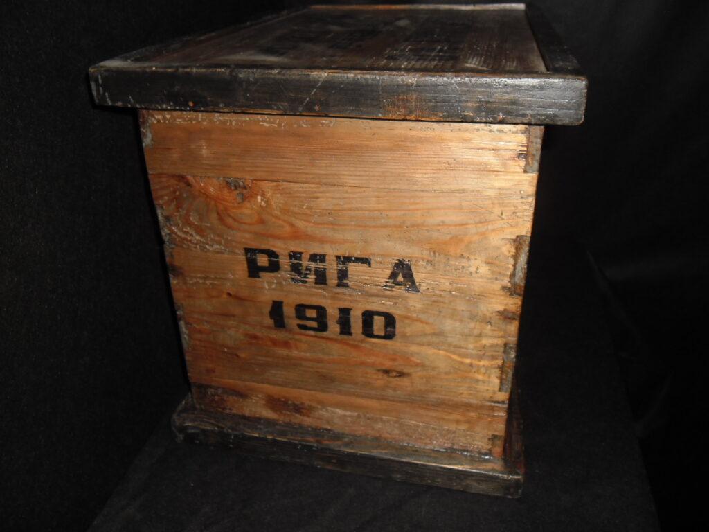 Ящик- шоколадная фабрика О.А. Ригерт. Рига 1910 год.