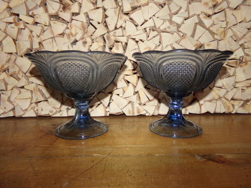 №4. Две вазы из синего стекла. начало 20 века.