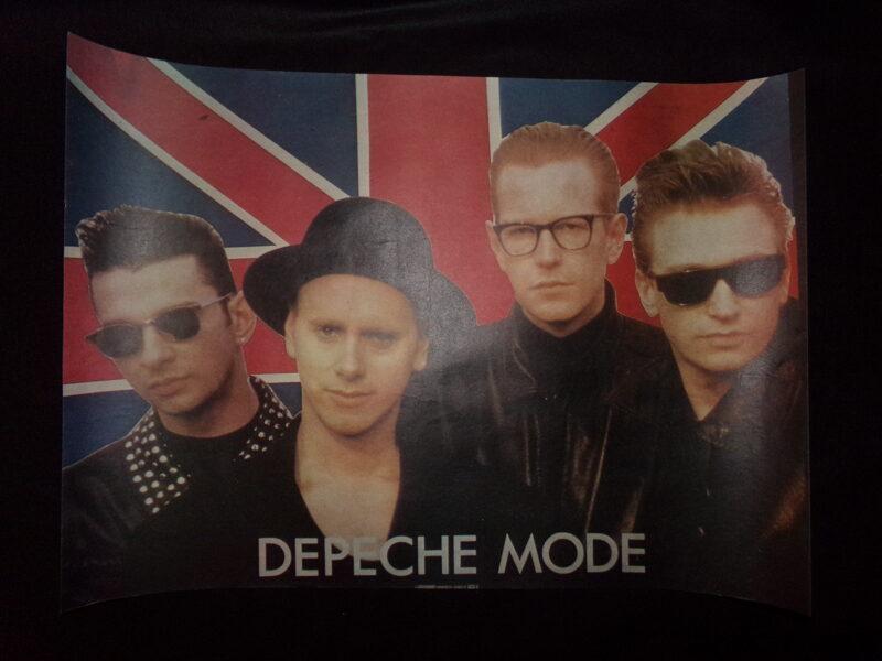 Плакаты группы DEPECHE MODE . СССР. Конец 1980-тых годов.
