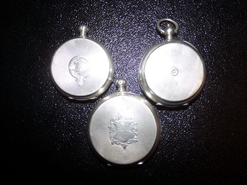 Три серебряных корпуса для карманных часов. Начало 20 века.