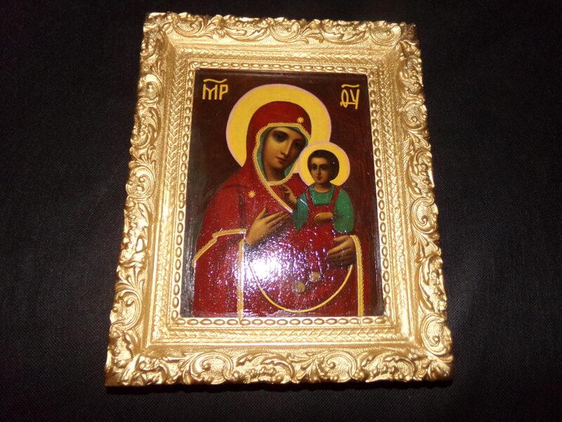 Икона Богоматерь с младенцем.
