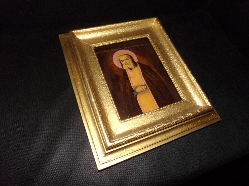Икона в раме- Серафим Саровский.