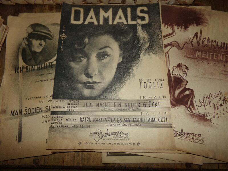 23 нотные тетради. Начало 20 века. Латвия. Германия.