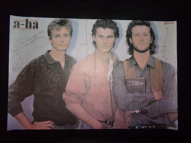 Плакат группы a-ha. СССР. Конец 1980-тых годов.
