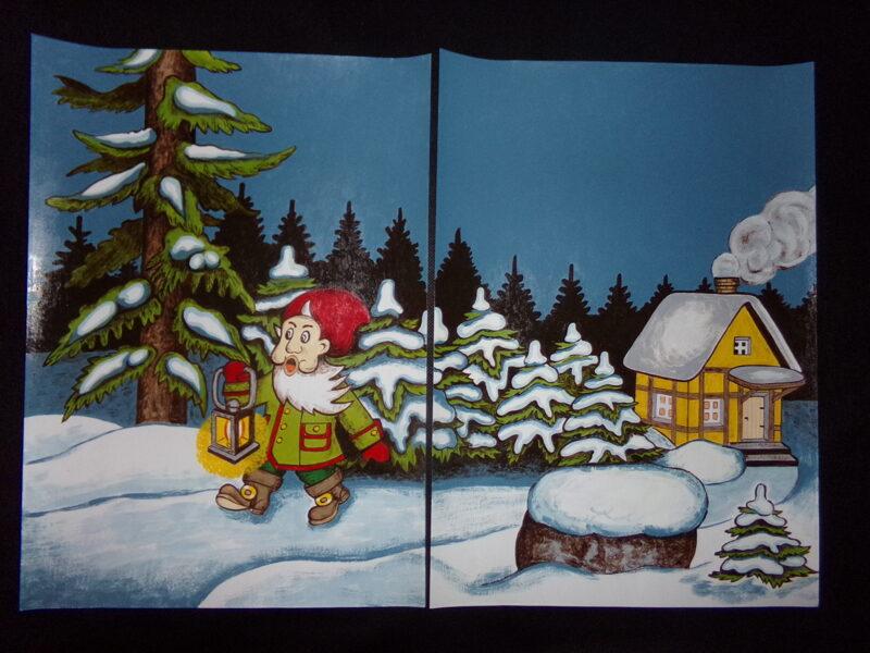 Иллюстрации к сказкам. Авторская работа Антонины Яковенко (Дубровская). 1999 год.