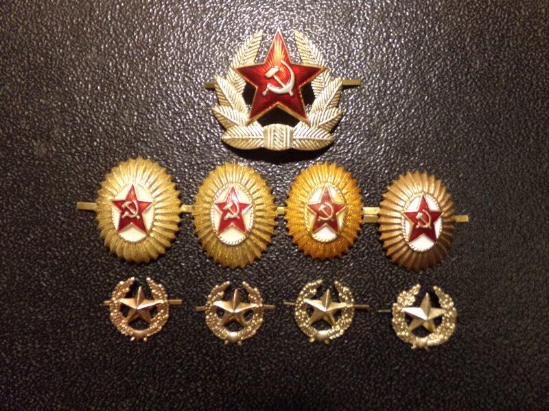 9 знаков советской армии.