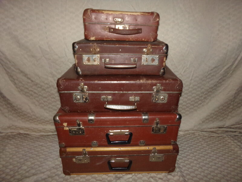 Картонные чемоданы. СССР. Середина 20 века.