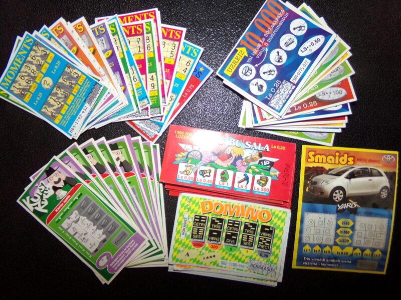Лотерейные билеты. Латвия. 1999-2002 года.