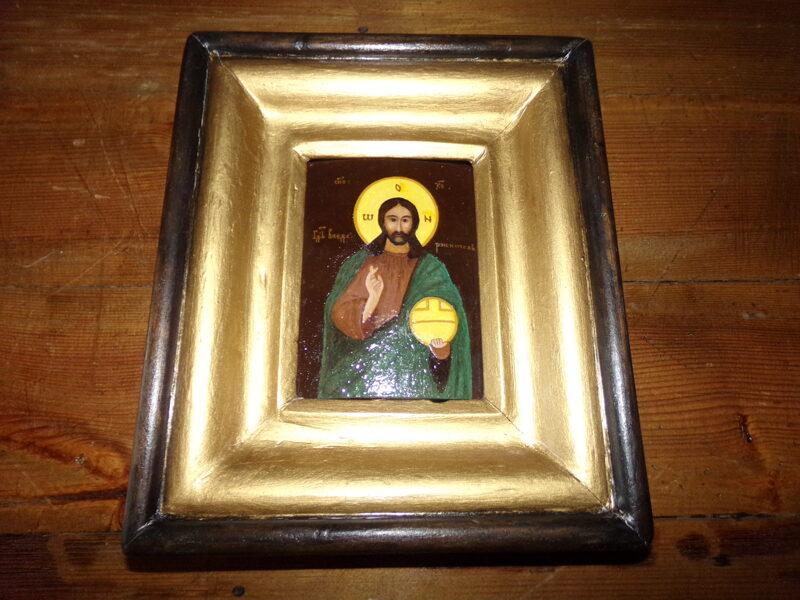 Икона в раме Иисус.