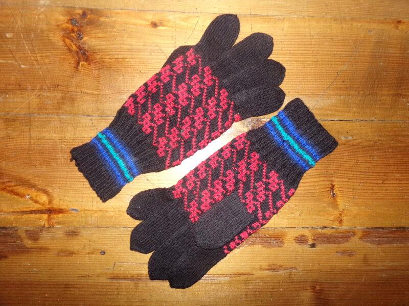 Вязанные перчатки. Латвия. Середина 20 века.